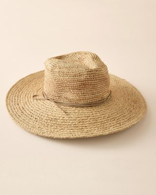 New Hat Attack Raffia Sun Hat by Garnet Hill
