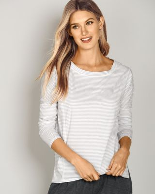 Seamed Long-Sleeve Top