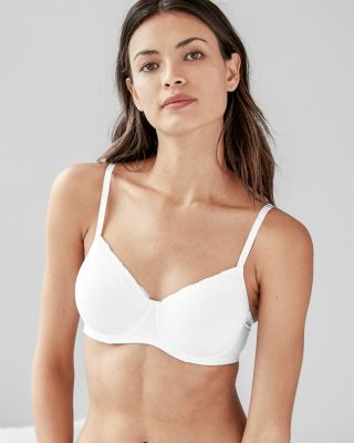 Hanro Cotton Lace Padded Underwire Bra