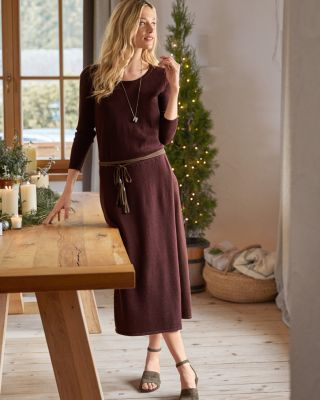 Long Sleeve Midi Sweater Dress by Garnet Hill