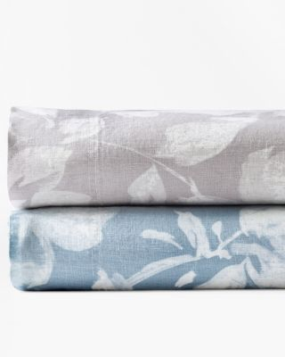 Linnea Floral Relaxed-Linen Bedding and Pillow Cover