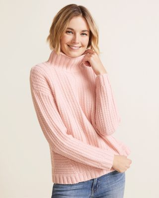 NewCashmere Chunky Textured Turtleneck by Garnet Hill