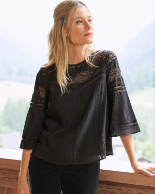New Mixed Lace Blouse by Garnet Hill