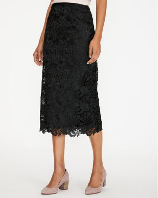Easy Lace Midi Skirt by Garnet Hill