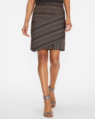Seamed Jacquard Skirt