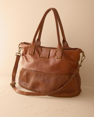 New Ida Woven Tote by Garnet Hill