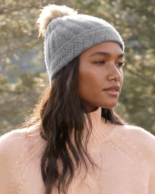 Cashmere Novelty-Stitch Hat