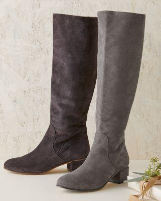 NewSamantha Suede Tall Boots by Garnet Hill
