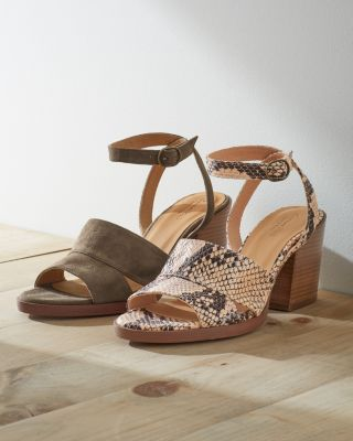 Maya Ankle Strap Block Heel Shoes by Garnet Hill