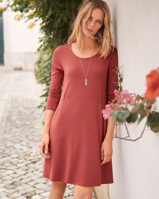 Everyday A-Line Knit Dress