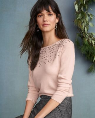 Cashmere Shimmer And Shine Sweater by Garnet Hill