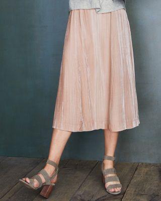 NewCrinkle Velvet Midi Skirt by Garnet Hill