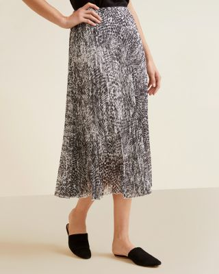 Essential Pleated Midi Skirt by Garnet Hill