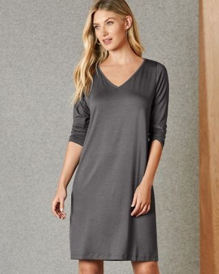 EILEEN FISHER Fine TENCEL™ Jersey V-Neck