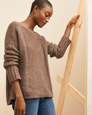 EILEEN FISHER Alpaca & Organic-Cotton Dolman-Sleeve Sweater