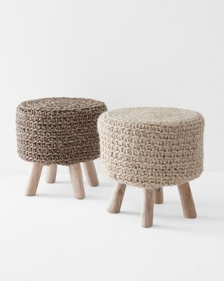 Braided-Wool Stool