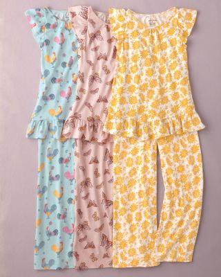 Girls' Signature Flutter-Sleeve Pajamas