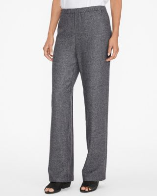 EILEEN FISHER Broken-Twill Wool-Flannel Ankle Pants