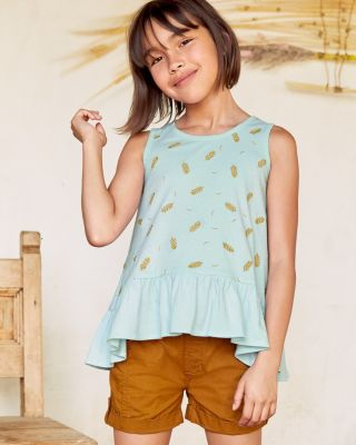 Girls' Embroidered Knit Swing Tank