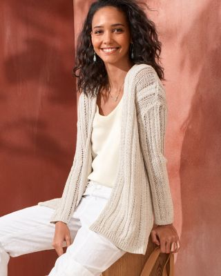 Braided-Rib Cardigan