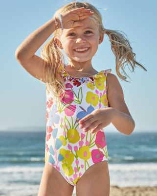 Girls' Ruffle-Detail One-Piece Swimsuit