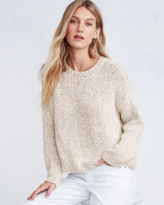 EILEEN FISHER Peruvian Organic-Cotton Hand-Knit Sweater