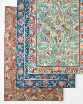 Company C Jaipur Garden Hooked Wool Rug