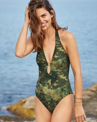 Robin Piccone Plunge-Neck One-Piece
