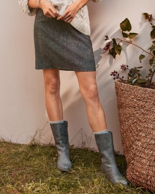 Peppered-Tweed Skirt