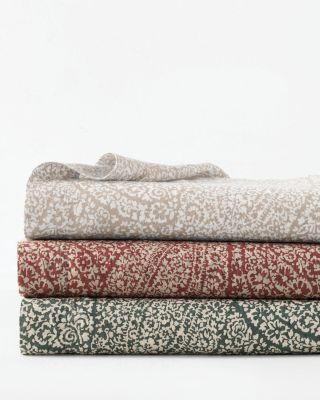 Paisley Relaxed-Linen Bedding