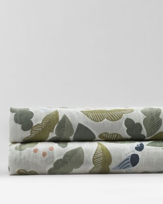 Little Birds Relaxed-Linen Bedding and Pillow Cover