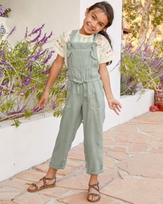 Girls' Bella Dahl Knotted Overalls