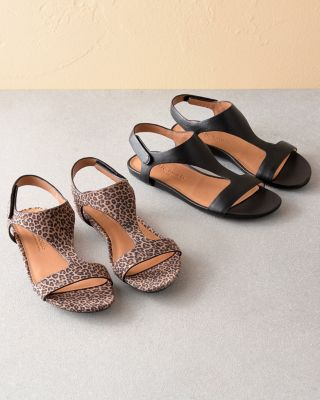 Gentle Souls Lark Slim T-Strap Sandals