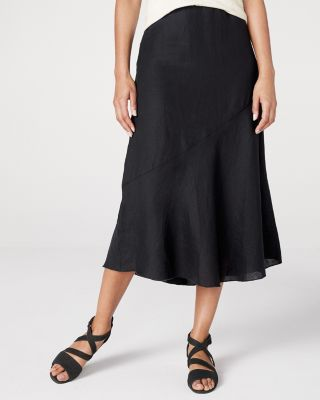 EILEEN FISHER Organic-Handkerchief-Linen Flared Skirt