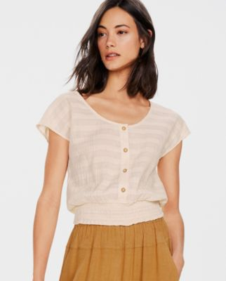 The Odells Smocked Banded Top