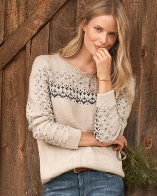 Alpaca & Cotton Fair Isle Sweater