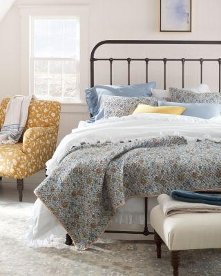 Odette Floral Organic-Cotton Quilt and Sham