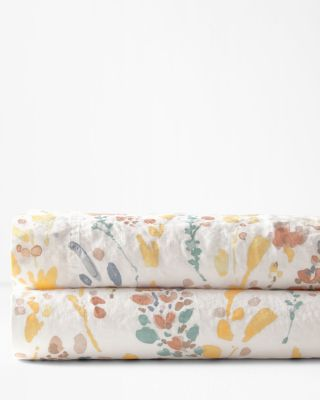 Prairie Floral Relaxed-Linen Bedding and Pillow Cover