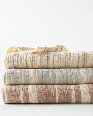 Gauzy Stripe Blanket, Throw, and Pillow Cover