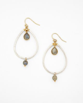 Chan Luu Mixed-Metal Teardrop Earrings