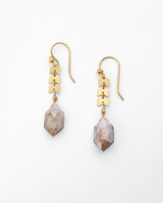 Robindira Unsworth Chevron Moonstone Earrings