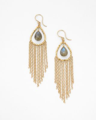 Dana Kellin Labradorite & Fringe Earrings