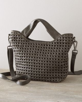 Latico Woven-Leather Cross-Body Bag