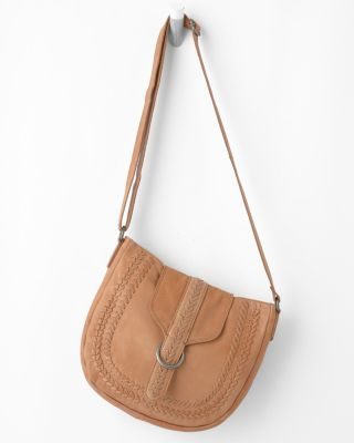 Latico Whipstitch Cross-Body Bag