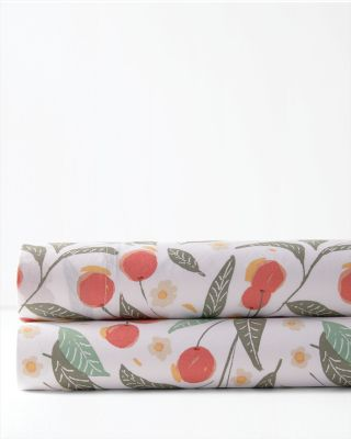 Vintage Cherries Organic-Cotton Percale Bedding