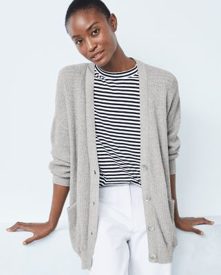 EILEEN FISHER Peruvian Organic-Cotton Boyfriend Cardigan