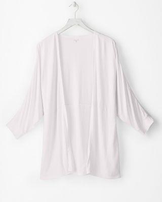 Linen & Modal Three Quarter Sleeve Cardigan by Garnet Hill