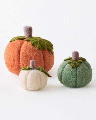 Felted Wool Pumpkins by Garnet Hill