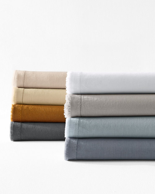 b50bccefa4 EILEEN FISHER Solid Washed-Linen Bedding Collection
