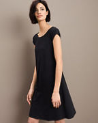 EILEEN FISHER Organic-Cotton Ballet-Neck Dress
